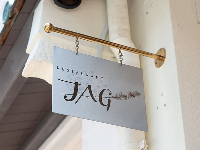restaurant jag singapore logo placement at the entrance
