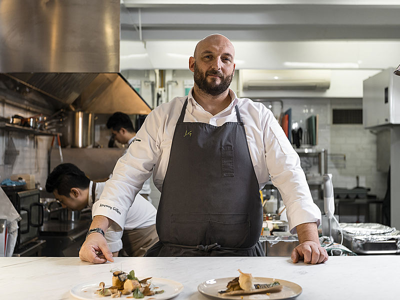a talented chef served italian dishes in singapore restaurant