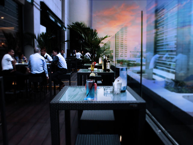 bar with lovely view of Singapore's city skyline