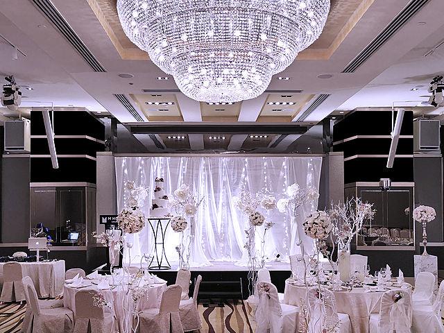 elegant interior for hotel ballroom