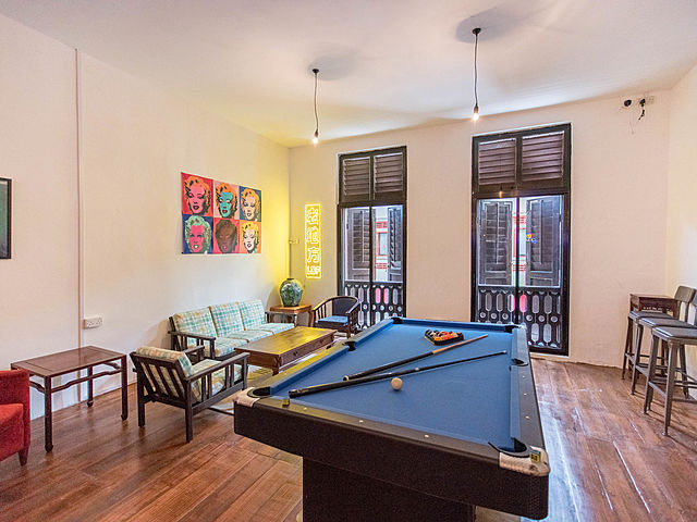 rooms with billiard table and windows