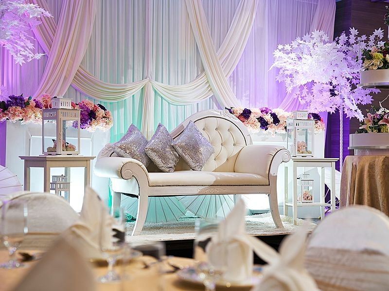 wedding event decoration on the stage