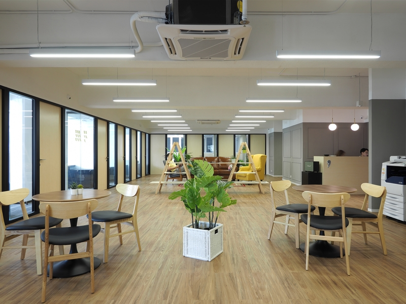 main area of coworking space