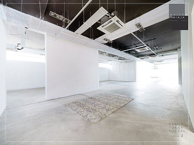 white dominant event space