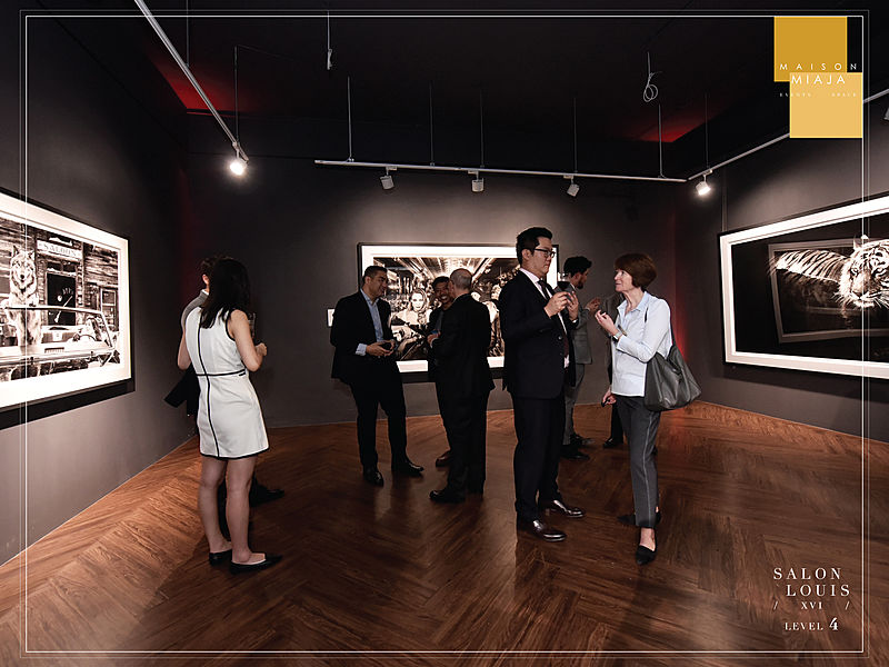 networking event during art exhibition
