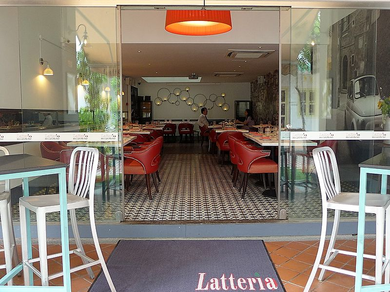 latteria restaurant view from outside