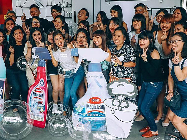 cleaning product launching with girls audience