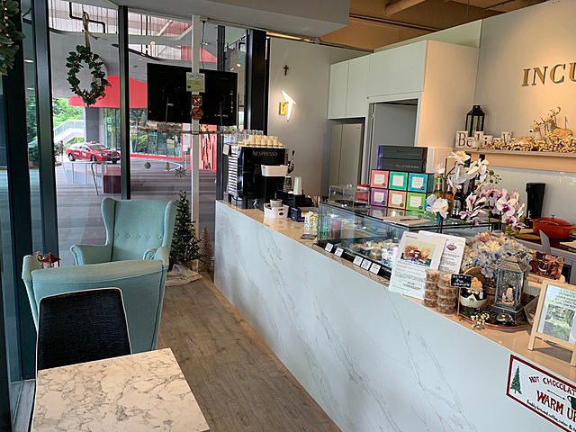 small cafe incubaker with minimalist design