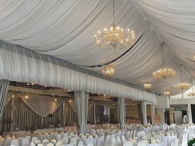 ballroom with chandeliers for wedding and corporate events