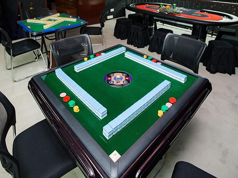 mahjong table provided at the event space