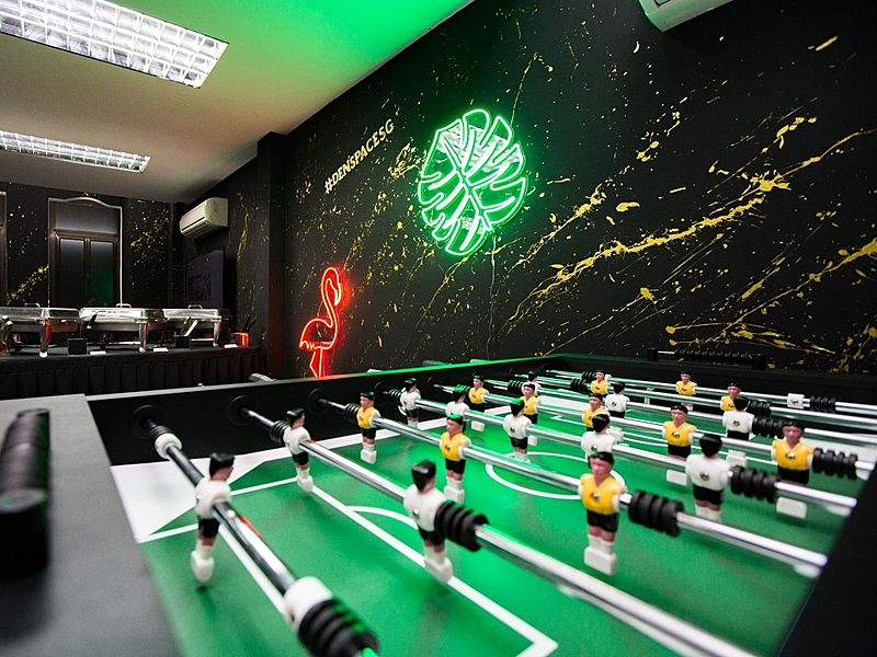 foosball table by den space