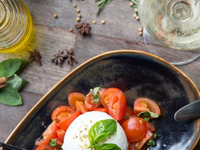 italian food with tomato