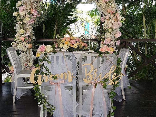 grom and bride solemnisation decoration