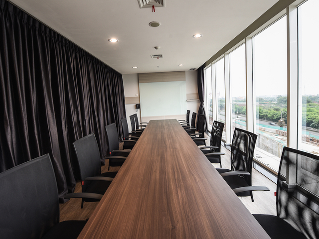 boutique office jakarta airport cool meeting room with city view