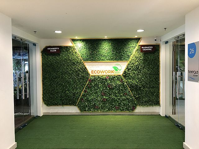 ecowork enter gate inspired by green