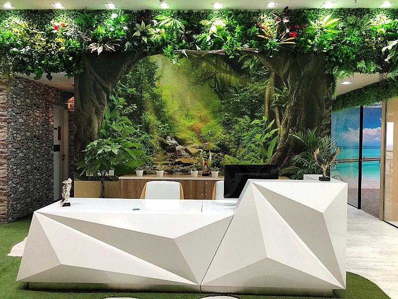 biophilic design which brings green and nature into our space rather than concretes walls