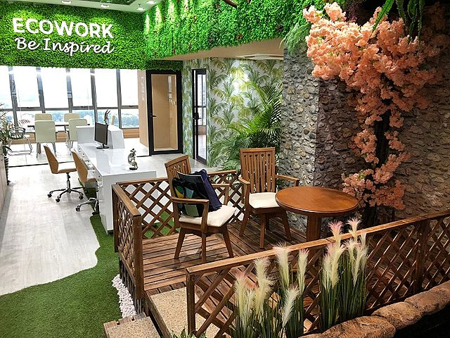 ecowork be inspired by green and nature design interior