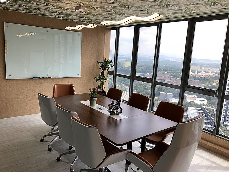 medium size meeting room with city view