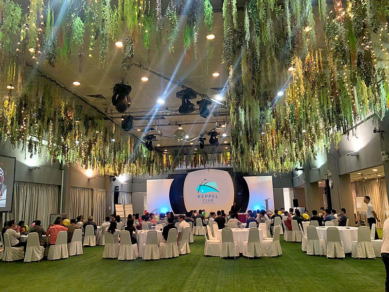 venue for product launching with garden theme
