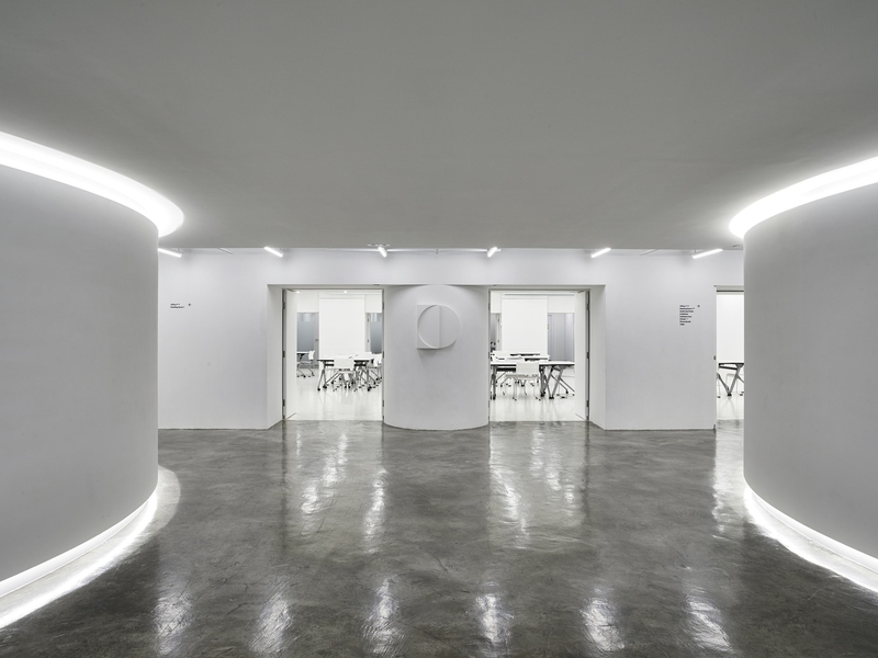 multipurpose event space with marble floor