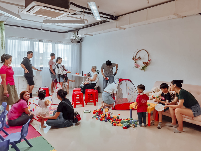 kids birthday party space in singapore with toys