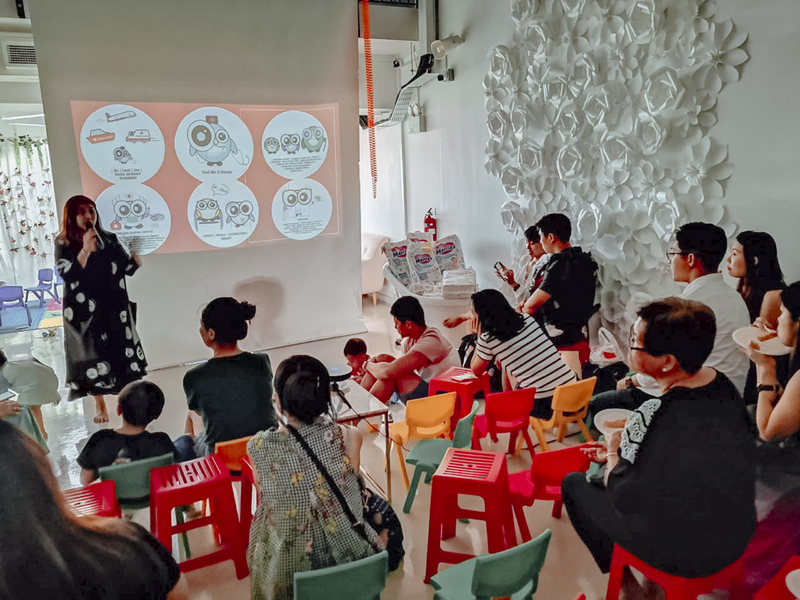 singapore event venue with projector screen for parenting seminar