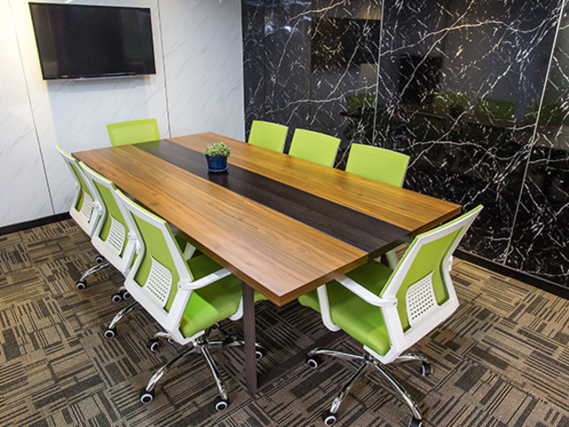private meeting room with conference style