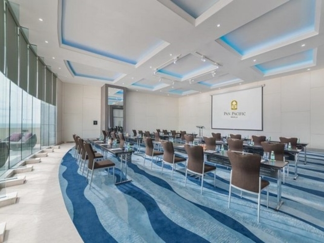 seminar room with large projector