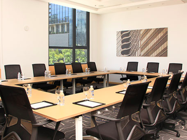 conference meeting room; window