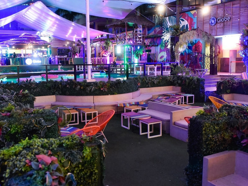 manila birthday party venue with large pool and white tent