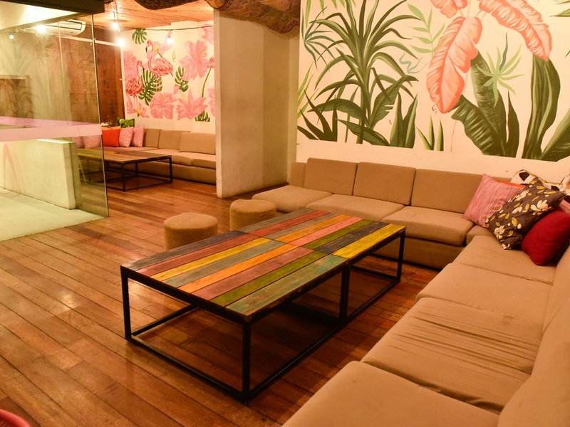 long couches and wall art painting in philippines private event venue