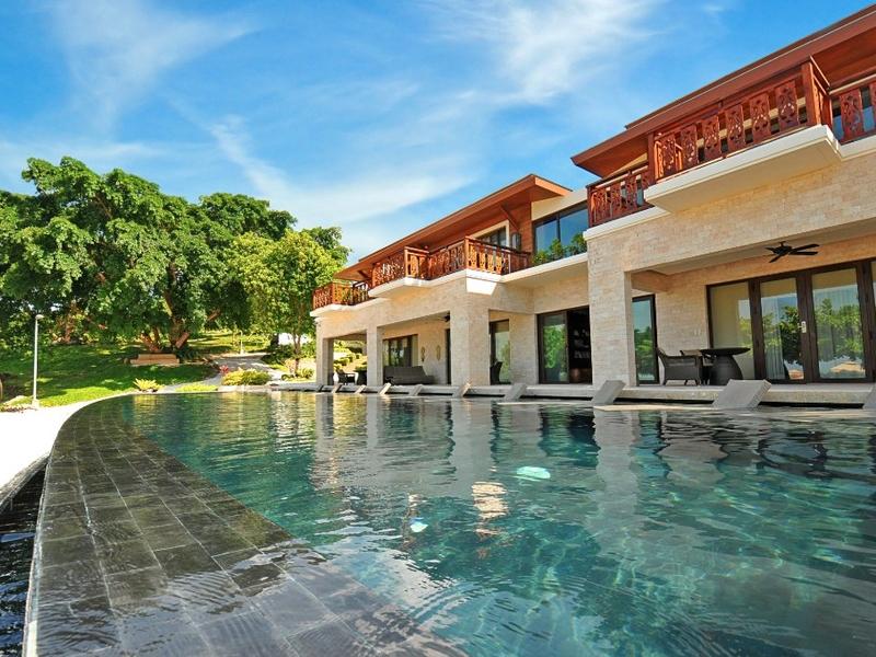 outdoor pool area beside the room resort