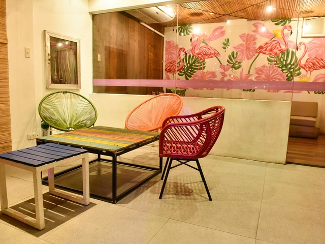 philippines event venue with several rooms and colourful chairs