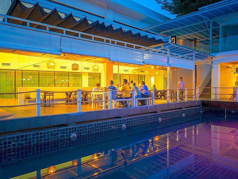Restaurant kuala lumpur with pool side and outdoor