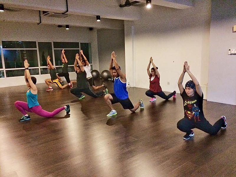 people joining a yoga class in small studio petaling jaya