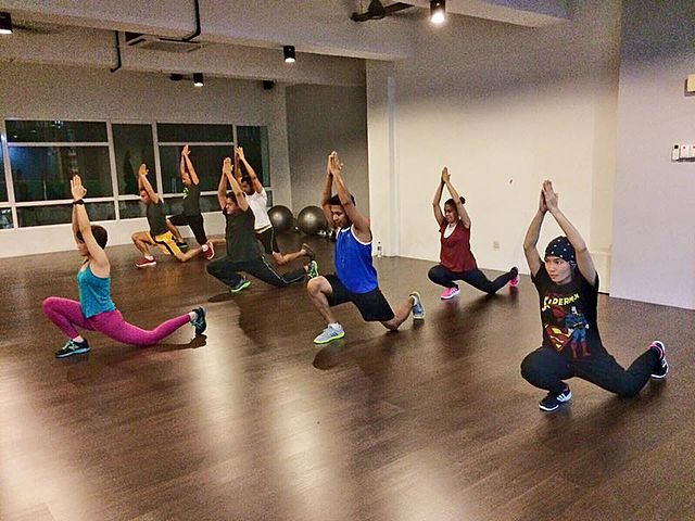 people joining a yoga class in small studio petaling jaya