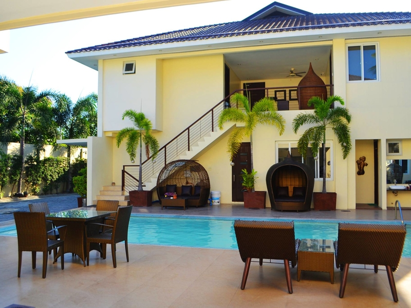 private villa with private outdoor swimming pool