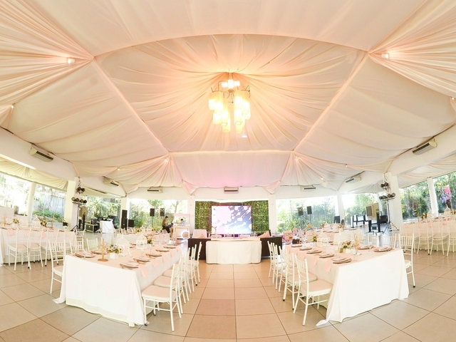 semi outdoor wedding reception venue