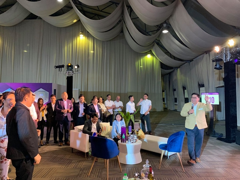 staff gathers during corporate event