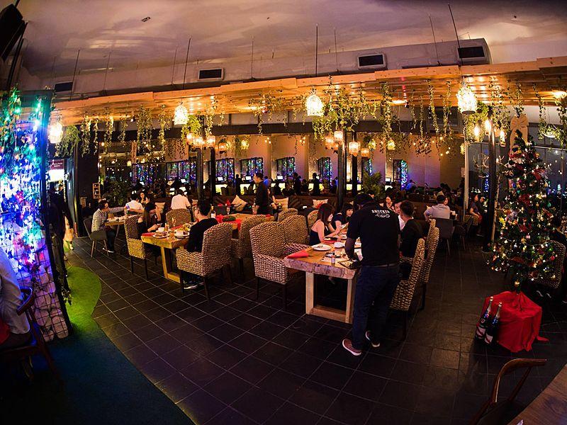 people dining in selangor restaurant with black floors