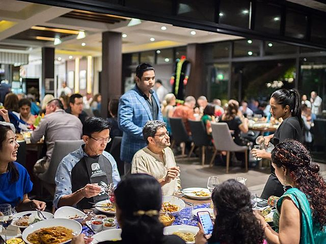 company book the whole restaurant for corporate function