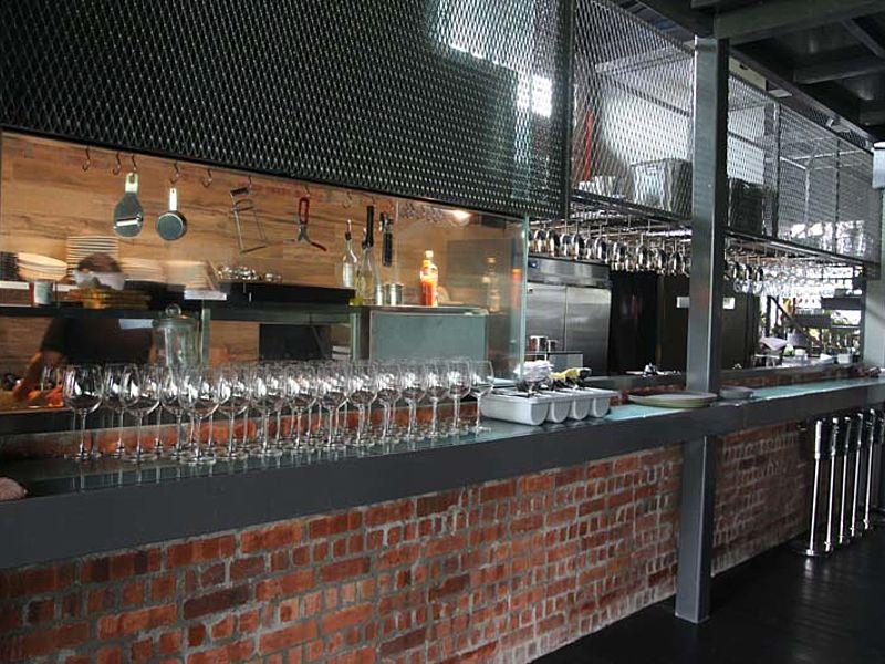 restaurant with open kitchen concept