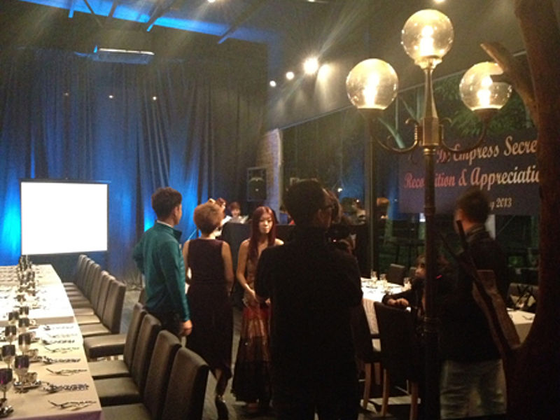 product launch event with dinner session