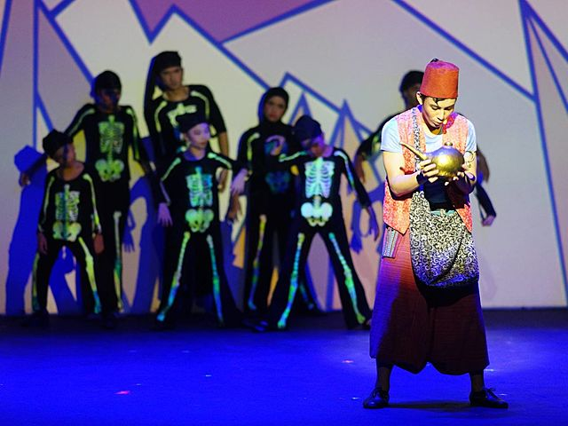 the actors are acting at a theater event venue in selangor