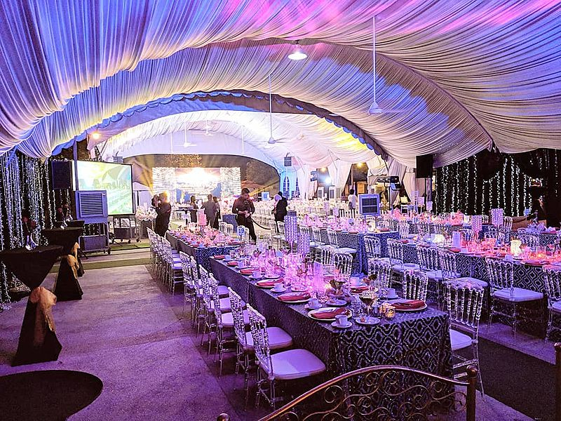 private intimate wedding reception at semi outdoor venue