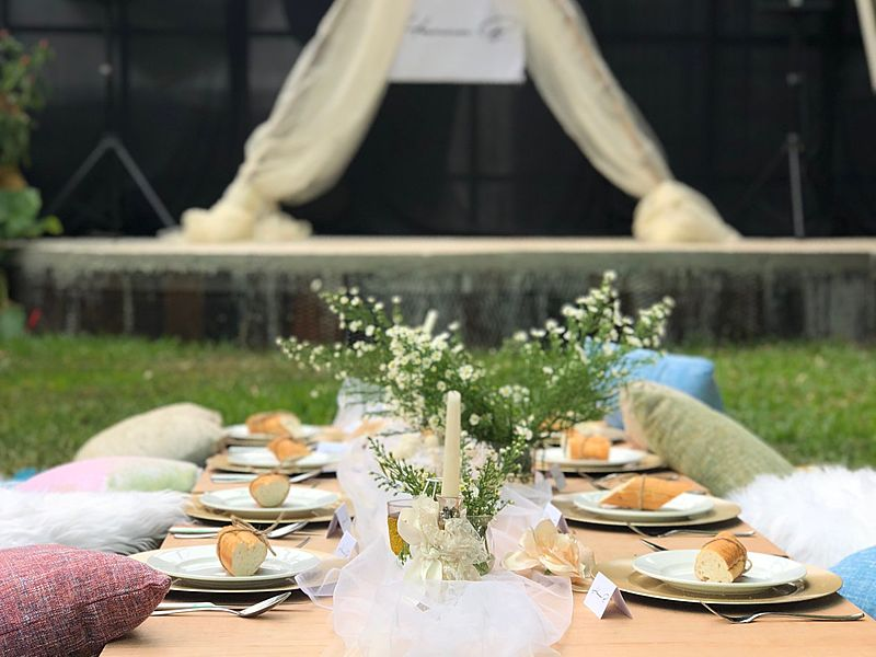 outdoor bohemian-themed bridal shower venue in kuala lumpur
