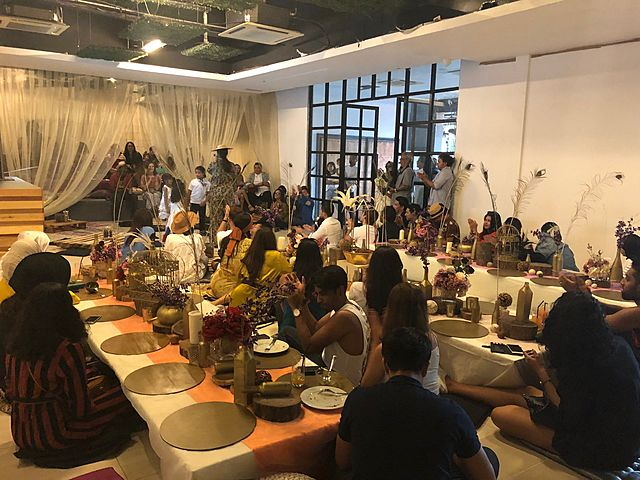 family gathering event venue in kuala lumpur with low seating dining table