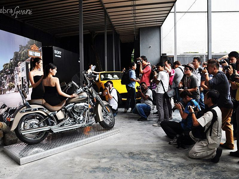 media joining the motorbike product launch event in kuala lumpur