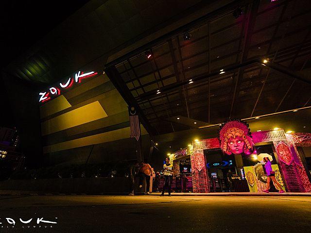 phuture zouk kuala lumpur frontage with art decoration