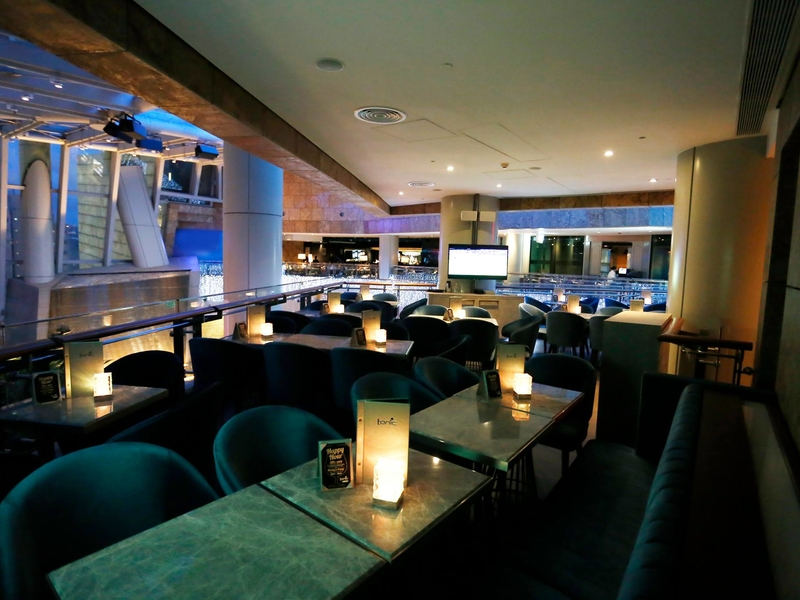 main dining area of tonic bar